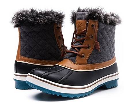 BLACK-GREY-Snow-Boots