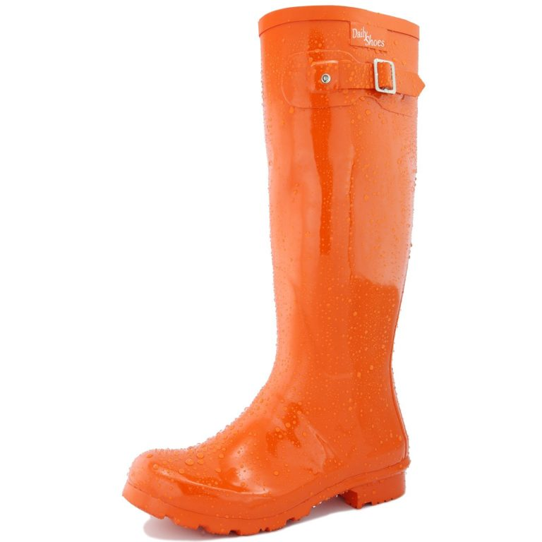 Womens-DailyShoes-Mid-Calf-Knee-High-Hunter-Rain-Round-Toe-Rainboots-768x768